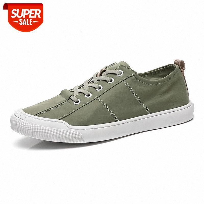 2020 мода обувь мужские кроссовки плоские прохладный молодой человек холст обувь дышащая ткань мужская обувь KA2452 # P73G