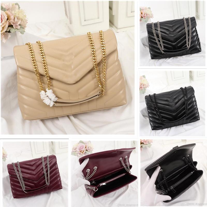 مصمم حقائب اليد جودة عالية loulou حقيقي حقيبة جلد المرأة حقائب اليد سلسلة الأزياء حقيبة الكتف 25 سنتيمتر 32 سنتيمتر حقيبة سعة كبيرة