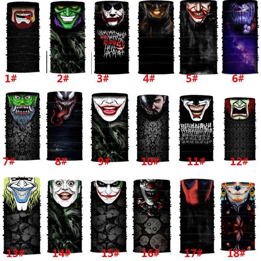 Masque 32 Styles de crâne de Halloween visage écharpe Joker Bandeau Cagoules mascarade Masques pour Ski Moto Vélo Sports de plein air Hh9-3219