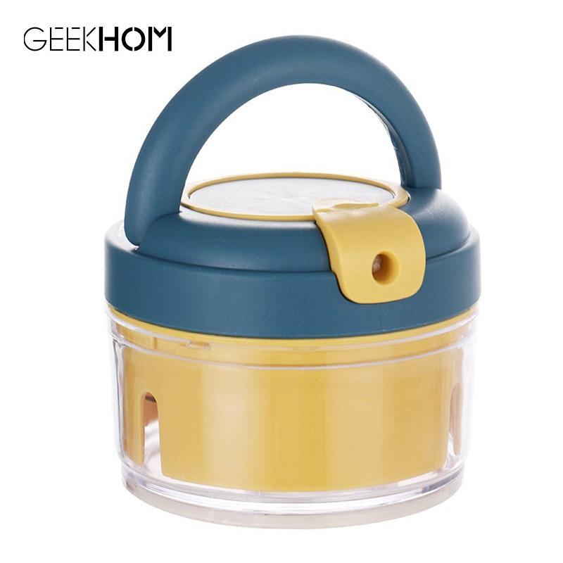 GEEKHOM multifonctions Presse-ail manuel gingembre ail Crusher Chopper pour la viande fruits Coupe-légumes Accessoires de cuisine C1111
