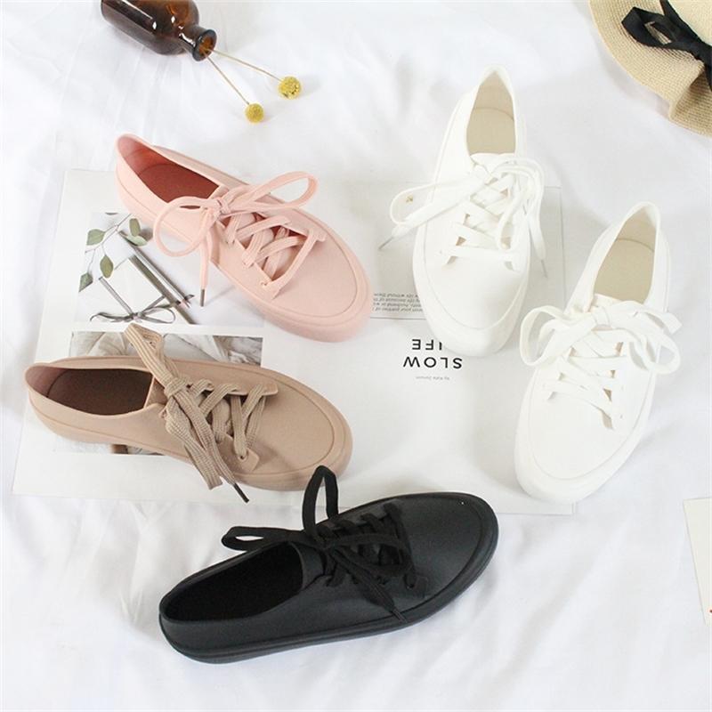Женщины женские желе мягкие сандалии кружева вскользь женские нескользящие мелиссы обувь Y200405
