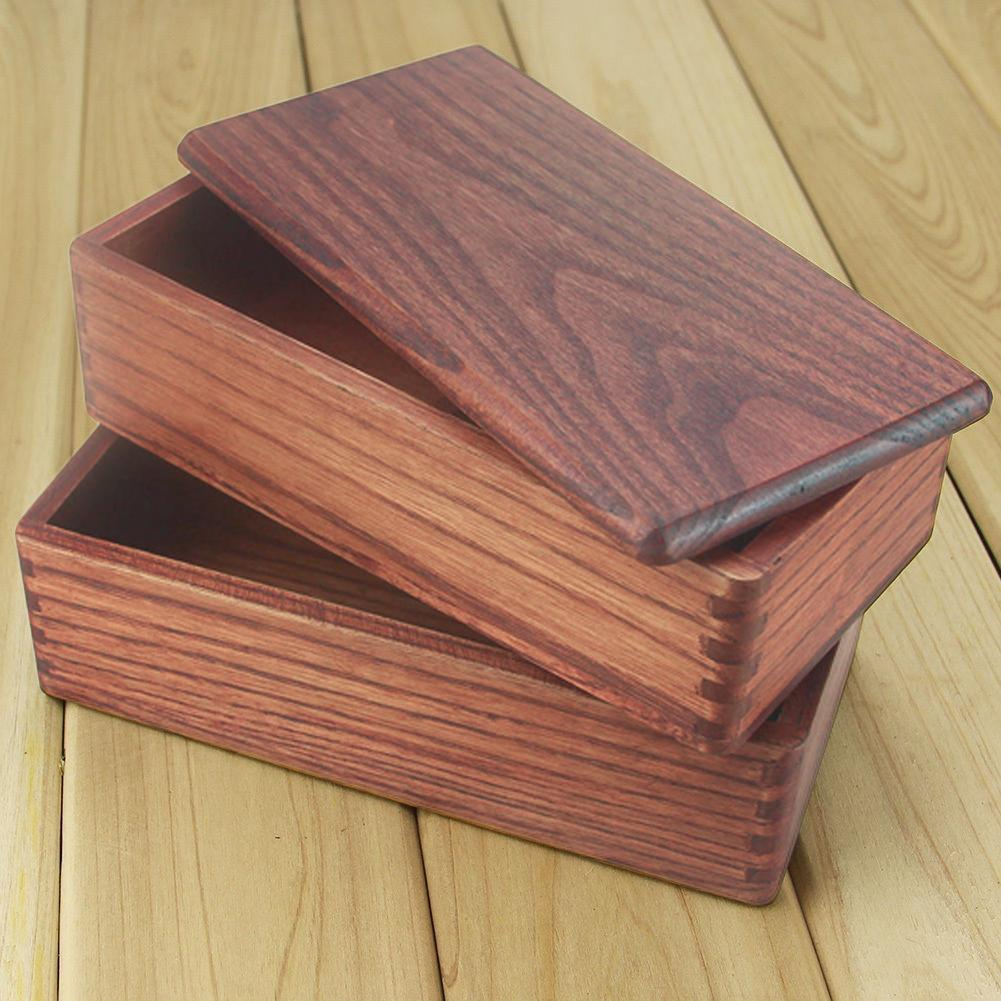 اليابانية مستطيل طبقة مزدوجة مقصورة خشبية الغداء مربع السوشي بينتو مربع الحاويات الغذائية المحمولة للأطفال مجموعة T200902