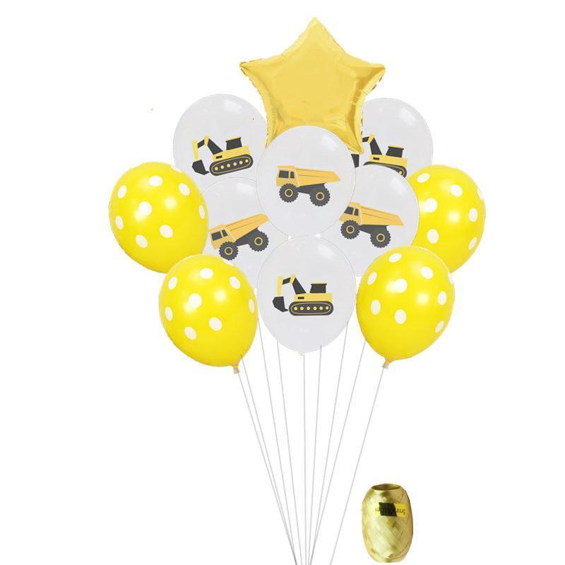 İnşaat Tema Parti Çocuk Boys Oluşturucu Temalı Doğum Günü Partisi süslemeler Lateks Balonlar İnşaat Balonlar Malzemeleri
