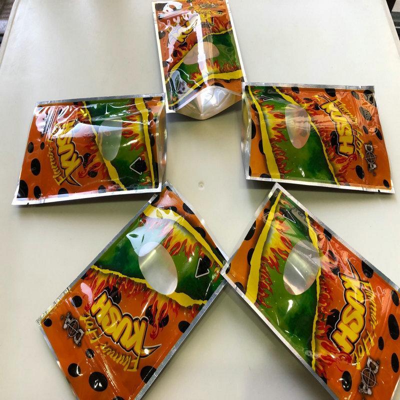Майларовый Горячие сумки Сумки Калифорнии 3.5-7g Edibles Empty Упаковка Resealable Майларовый Flamin Куш bbyZV nana_shop