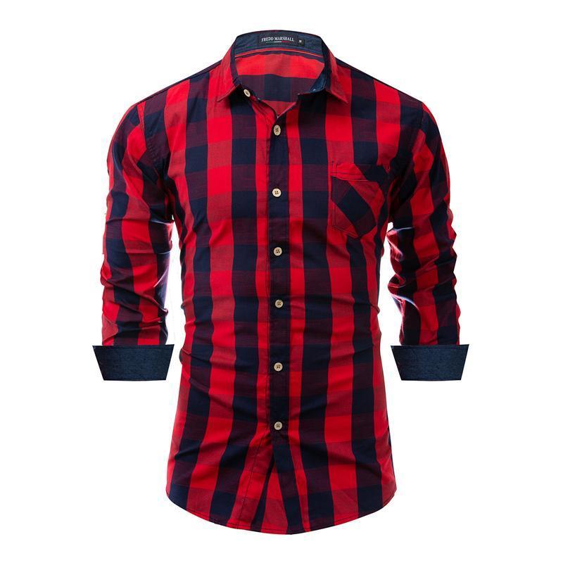2020 Nova Chegada Primavera Outono Mens Menseira Camisa 100% Algodão Manga Longa Moda Casual Social Negócio Estilo Vestido Camisas, FM155