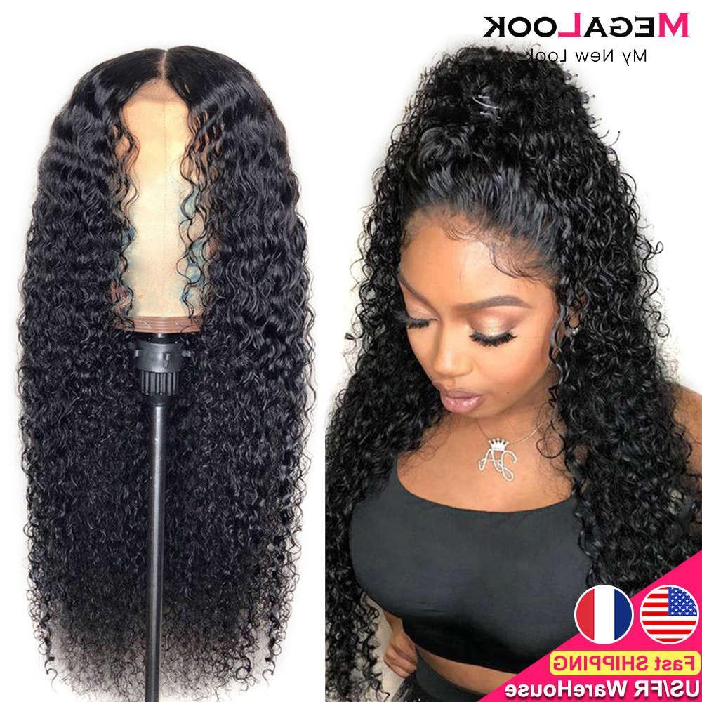 Parrucche anteriori dei capelli umani per le donne nere del pizzo di 30 pollici Remy 180 parrucca di chiusura riccia peruviana