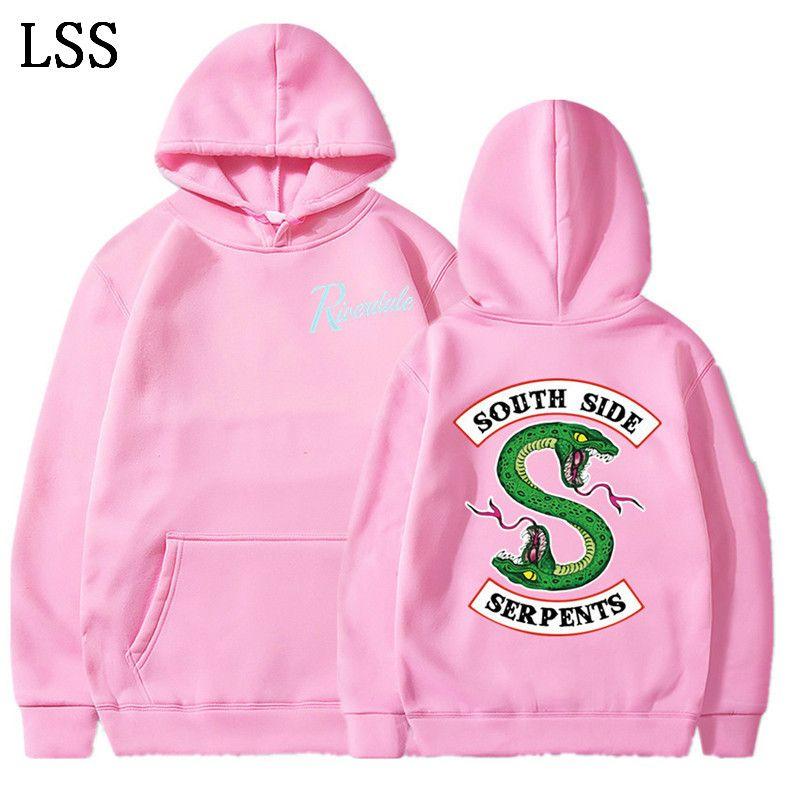 American TV Riverdale Oversized Hoodie Polerones Hombre Southside Serpents Streetwear Hip Hop Hooded Mens Hoodies and Sweatshirt L-8