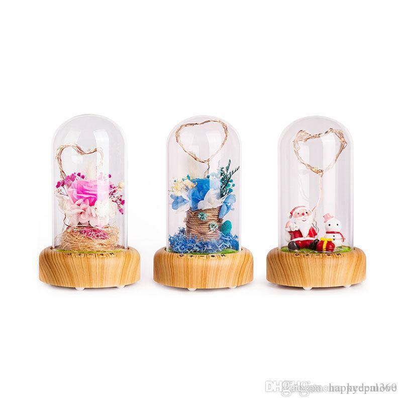 LED Dream Streamer Bouteille Éternelle Flower Décoratif Nuit romantique Lumière Bluetooth Table de table de haut-parleur Bluetooth pour Noël Saint Valentin Day Cadeau