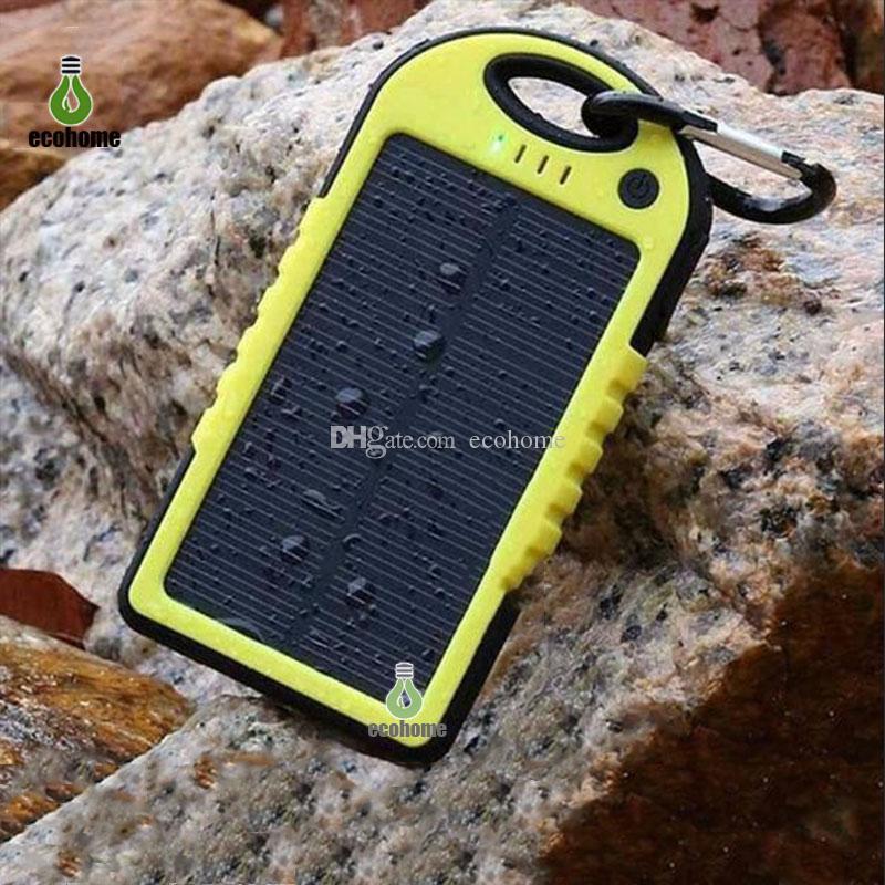 12LED와 배터리 충전기를 충전 8000mAh 태양 광 전원 은행 휴대용 태양 전지 패널 듀얼 USB 배터리 팩 충전기
