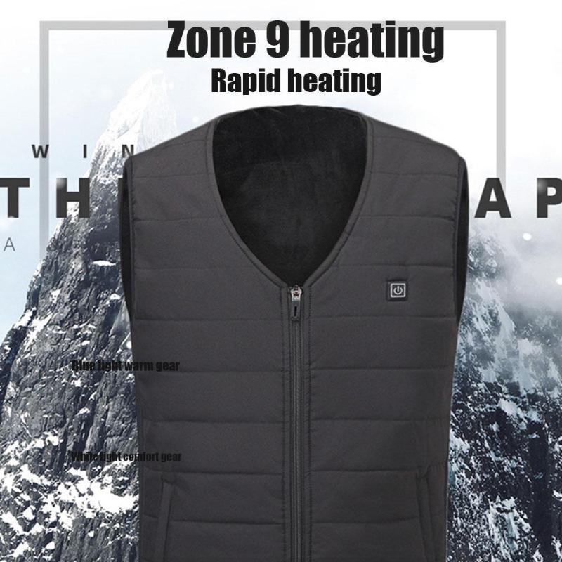 Les hommes automne hiver intelligent chauffage coton Gilet USB infrarouge Femmes Veste électrique Gilet flexible thermique de chauffage en hiver Réchauffez Ou S3C8