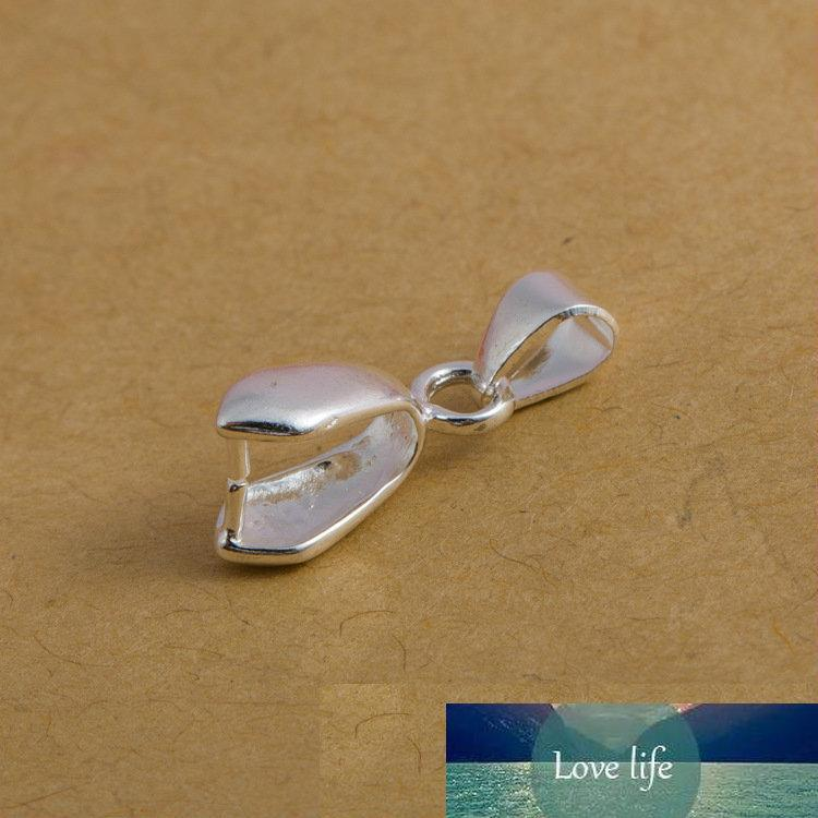 20 adet / grup Boyut S / M / L 925 Ayar Gümüş Bulgular Kefalet Bağlayıcı Balya DIY Kolye Kolye Takı Için Toka Kolye