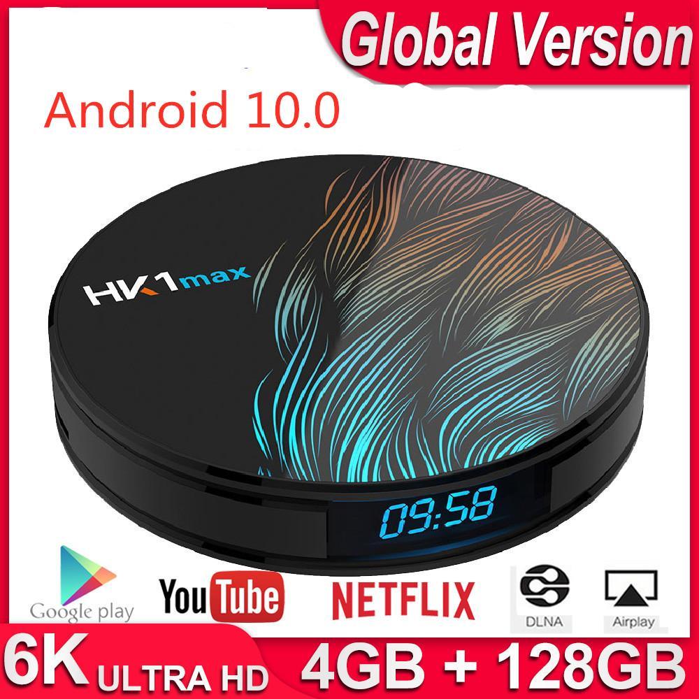HK1 Max Smart TV Box Android 10 Quad Core 5G WiFi BT 4.0 YouTube Netflix 4K Player VS X96 HK1