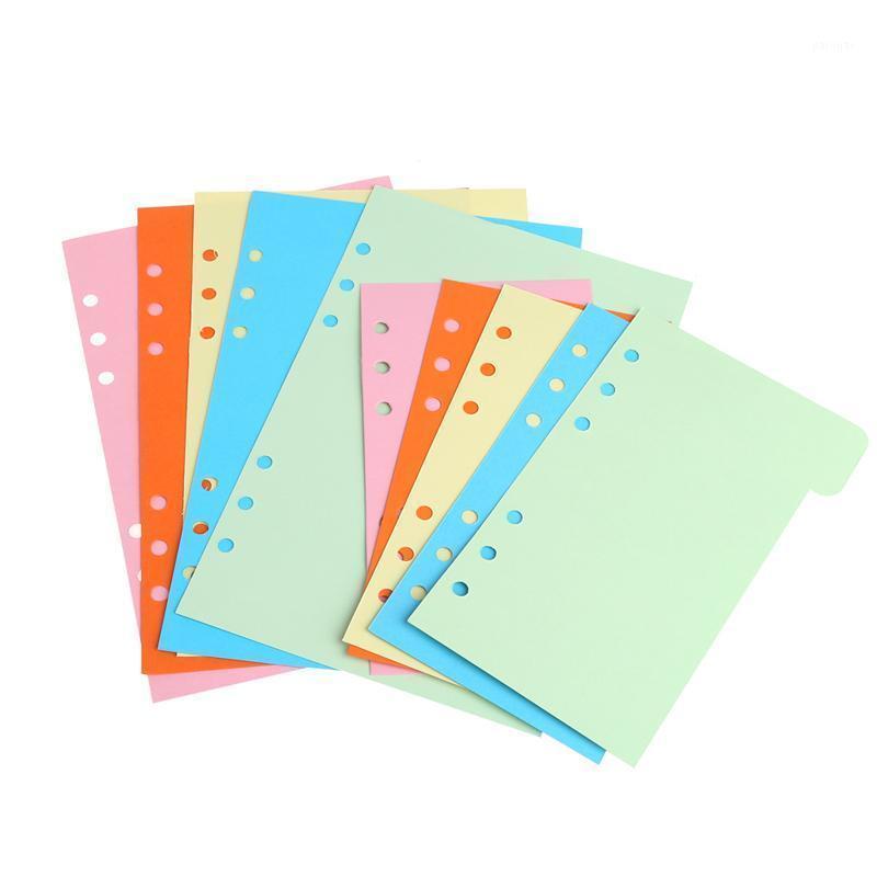 Notepads 5PCS لون الحلوى الملونة الحلو مقسم صفحة منفصلة بسيطة ولكنها جيدة المباراة 6 أغلبيات فضفاضة ورقة دفتر الأوراق المالية مخطط filofax1