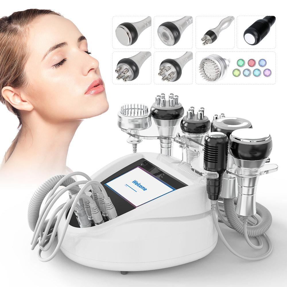 Pro Ultrasonic 40K Cavitation Radio Frequency 7 IN 1 Slimming Machine Body Care Cellilute Removal Beeauty SPA Salon Use