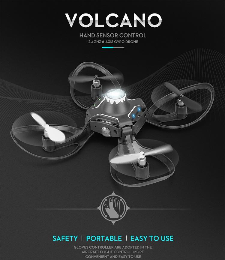 Pieghevole Drone Gesture Control Photography Aerial Fotografia quadcopter Sensore di gravità somatosensoriale con telecomando leggero Aereo giocattolo per bambini