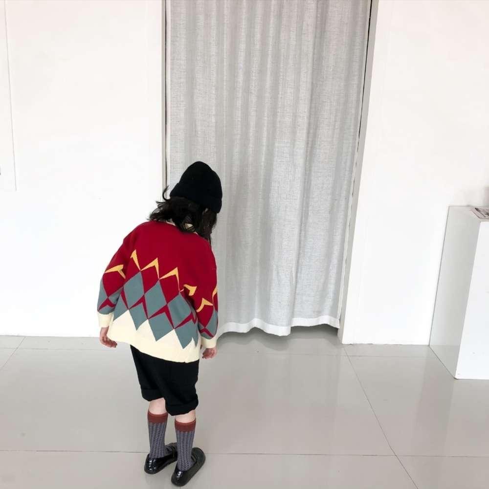 2020 Yeni Xuanxuan Sos Sonbahar Kore Erkek Ve Kızlar Jakarlı Kazak Çocuk Hırka Ceket 8WB8