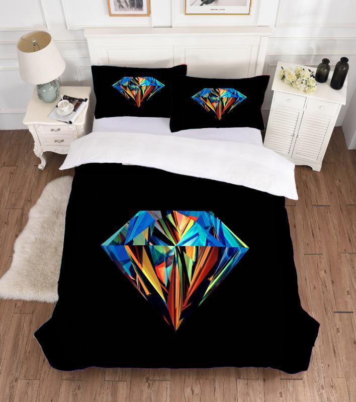 Best.wensd High-grade Digital Printed 3d Diamond Double Beddings New Style Comforter Bedding Sets King American Style Bed Set