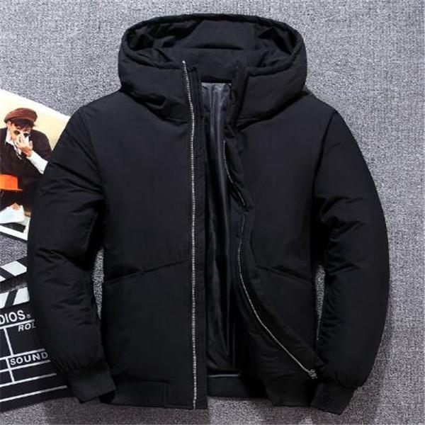 caldo piumino con cappuccio uomini nuovi giovani Inverno Slim imbottito giacca corta imbottita giacche Cappotti Parka