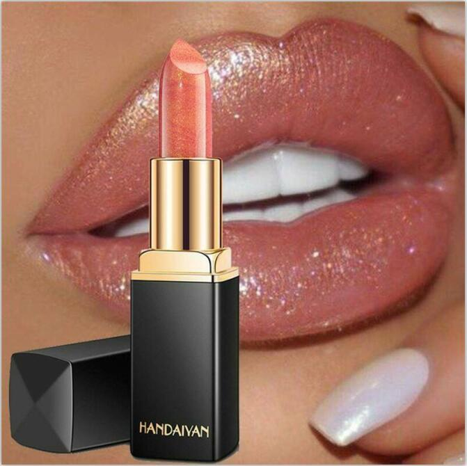 HANDAIYAN Líquido Batom Brilho metálico Matte Longa Duração Lip Gloss Maquiagem Tool