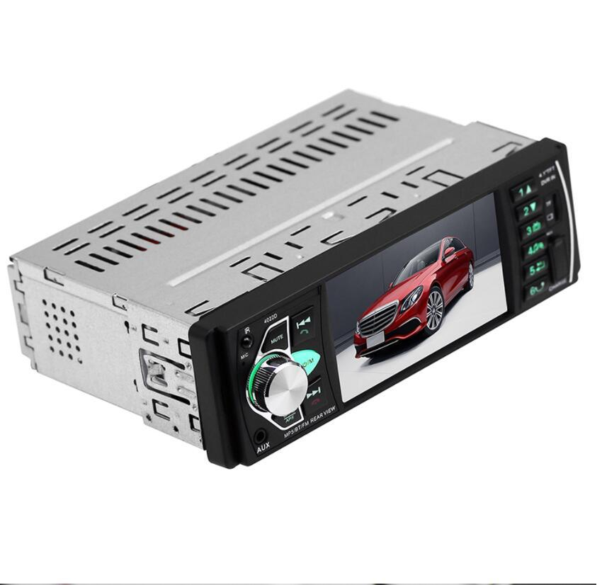 4022D 4.1'' Digital Screen 1Din Car Radio Support USB AUX FM BT Steering Wheel Remote Control With Reverse Camera
