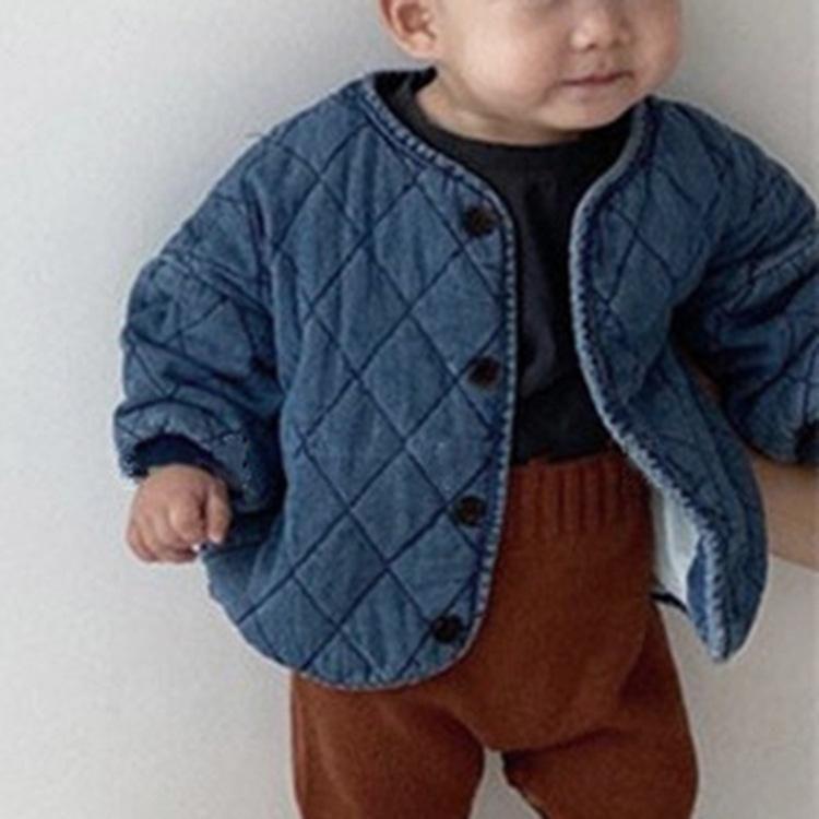 2020 automne pour enfants et denim hiver matelassée veste à manches longues