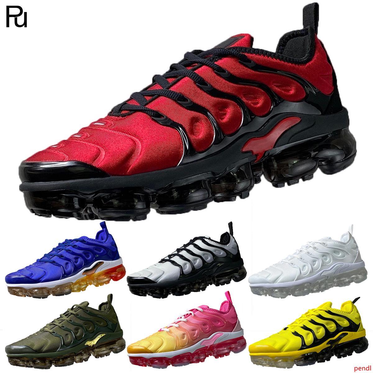 Zapatos de calidad superior estilista Tn PLUS arco iris violeta persa de limón de limón para los hombres Overbranding Triple Juego Real corrientes de las mujeres runers las zapatillas de deporte