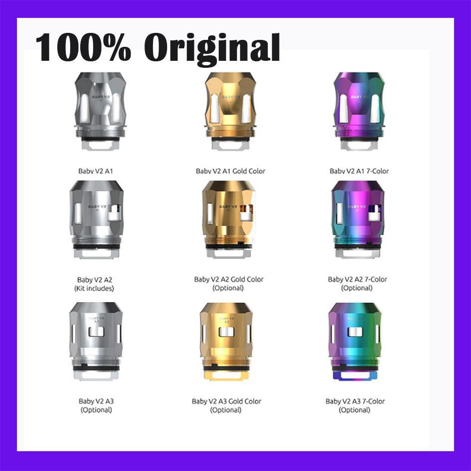 100% Оригинальная замена катушки TFV8 младенца V2 Tank A1 0.17ohm S1 0.15ohm S2 0.15OHM Продажа в Lot Wholesales доставка DHL