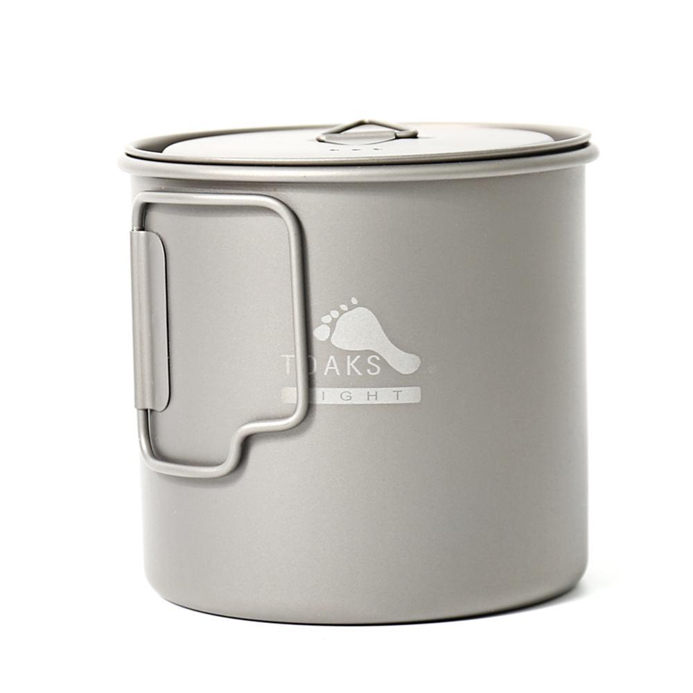 TOAKS Titanium Arts de la table extérieure Tasse de camping, de grande taille peut être utilisé comme un pot POT-650-L C1108