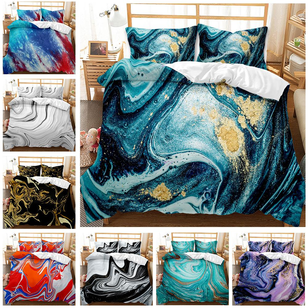 Nuevo patrón artístico de alta calidad cubierta de edredón de tres piezas Conjuntos de cama de tres piezas 13 Color en venta conjuntos de edredón