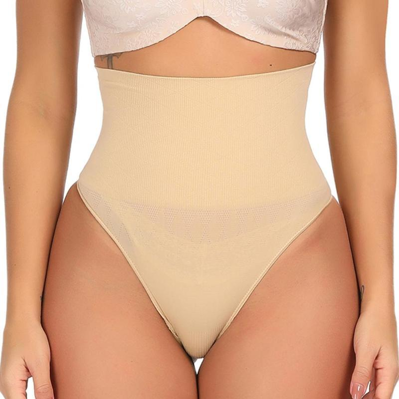 De cintura alta talladora del cuerpo de las mujeres sin fisuras Fajas Panty que adelgaza la panza de la cintura Trainer Bragas de control Modelado interior de la señora