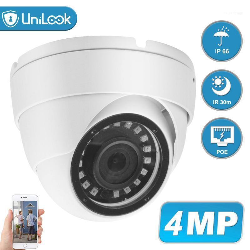 UNILOK 4MP PoE IP-Sicherheitskamera Outdoor Onvif H.265 Revolet Dome IR 30m P2P-PlugPlay mit Hikvision NVR1