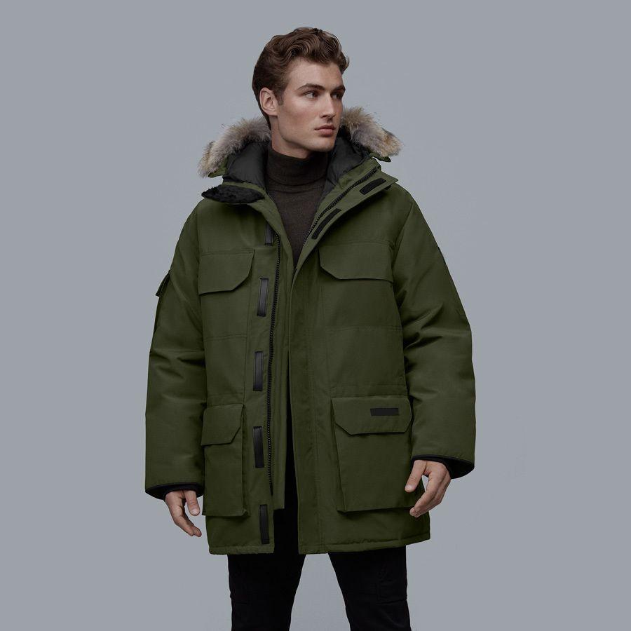 Brand new Man Canadá Baixo Coats Expedition Parka Style08 Imprimir parkas quente ao ar livre Homem Casaco de inverno Casacos Casacos Parkas