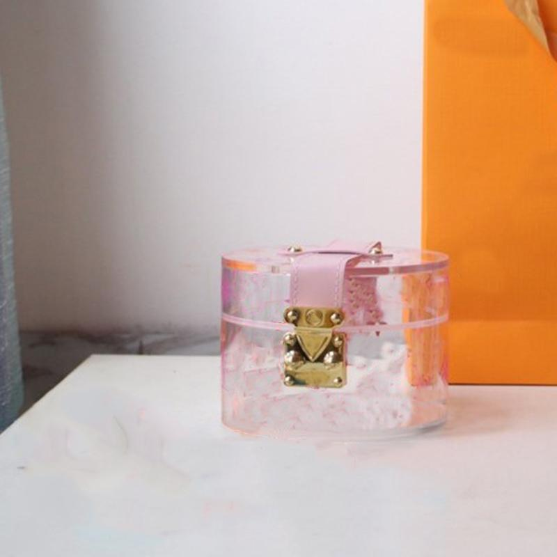 Quente caixa de vidro de luxo desenhista caixa de armazenamento senhoras saco de mensageiro moda único ombro feminino mensageiro saco flip design gi0430