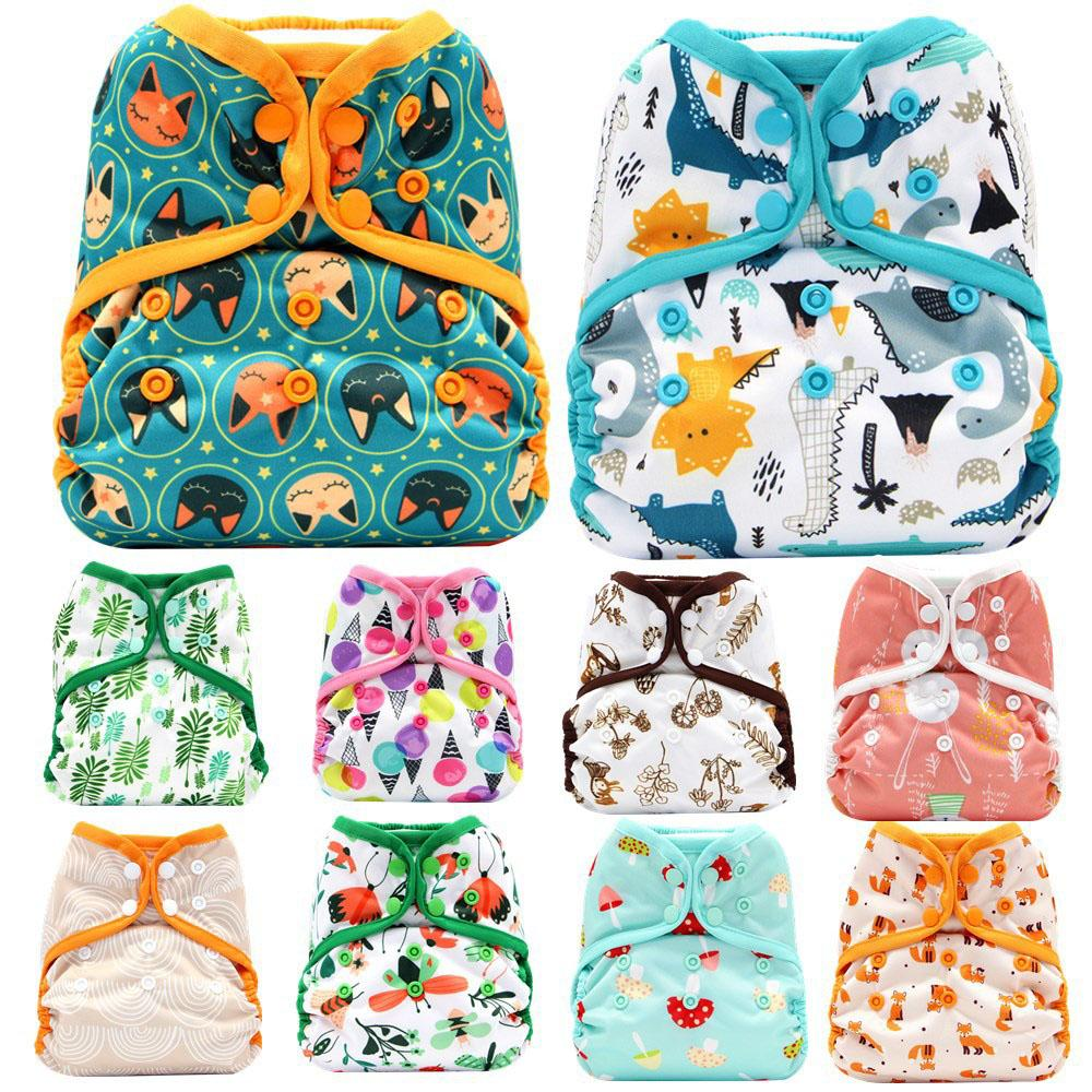 Cute Reusable infant toddler Diapers 52 styles Nappy Double Buckle Breathable Waterproof newborn baby Cloth Diaper Cover Z1897