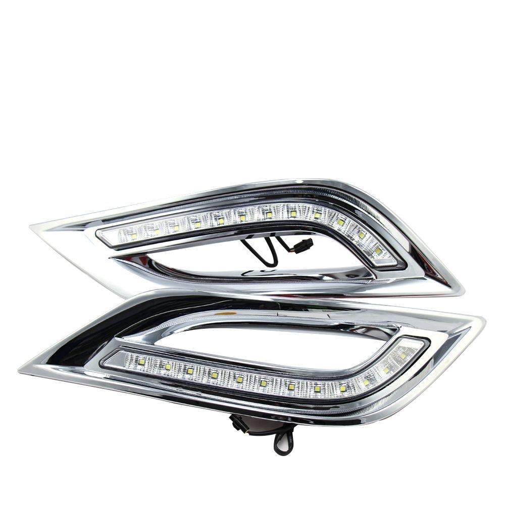 Автомобиль задний бампер огни на 2013-2015 годы Hyundai Sonata Светодиодные противотуманные световые фонари ДЕНЬ