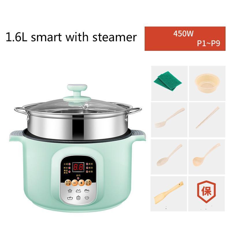 طنجرة الأرز الكهربائي الصغيرة ل 1-2 أشخاص مصغرة واحدة طباخ كهربائي متعدد الوظائف متعدد الوظائف لمدة 2-3 أشخاص