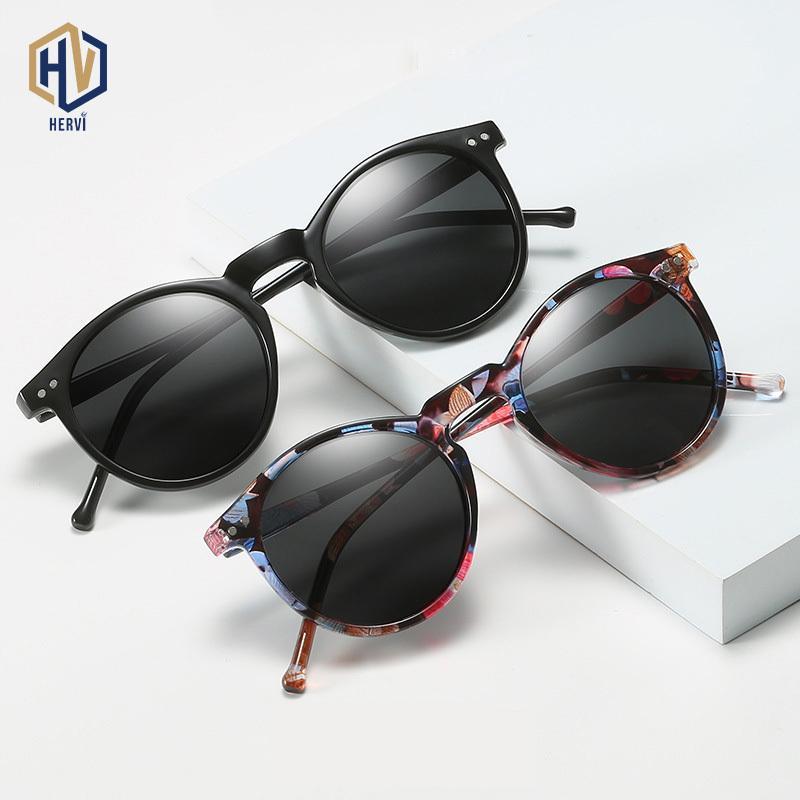 Polarisierte Sonnenbrille Männer Frauen Fahren rundes Feld Sun Glasses Retro Männlich Weiblich Goggle UV400 Shades Oculos Gafas De Sol