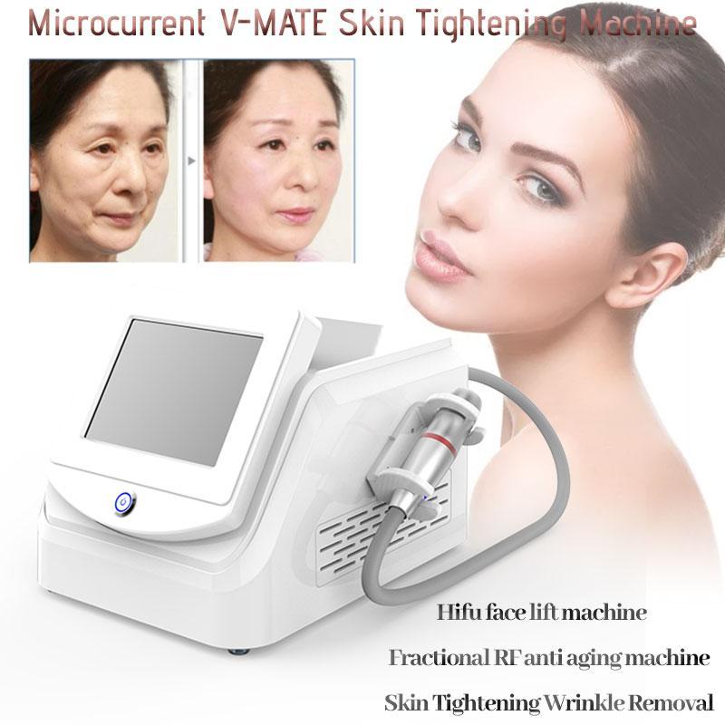 Hifu rughe rimozione viso sollevamento bellezza bellezza dimagrante macchina V-max ringiovanimento della pelle 2 in 1 equipaggiamento