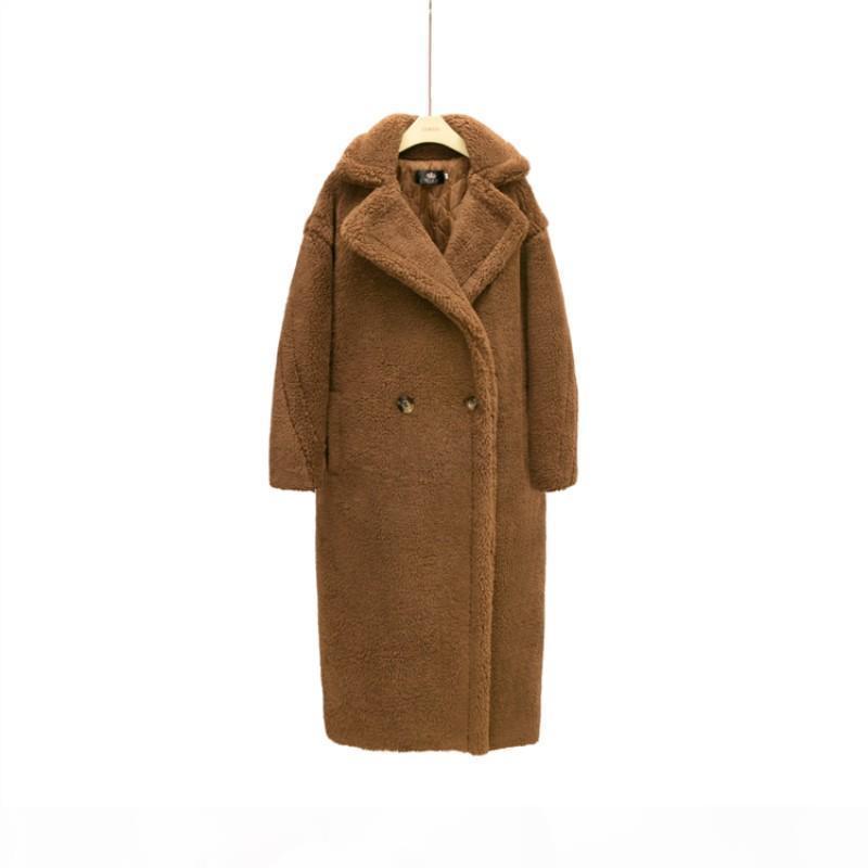 Monmoira 핑크 긴 테디 코트 여성 겨울 따뜻한 여성 가짜 모피 코트 숙녀 8 색 테디 재킷 숙녀 야외 오버 코트