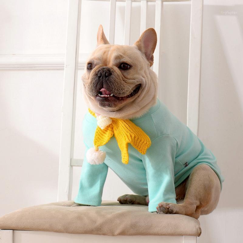 Собака одежда [MPK носить] милый свитер с шарфом, подходит для французских бульдогов и pugs1