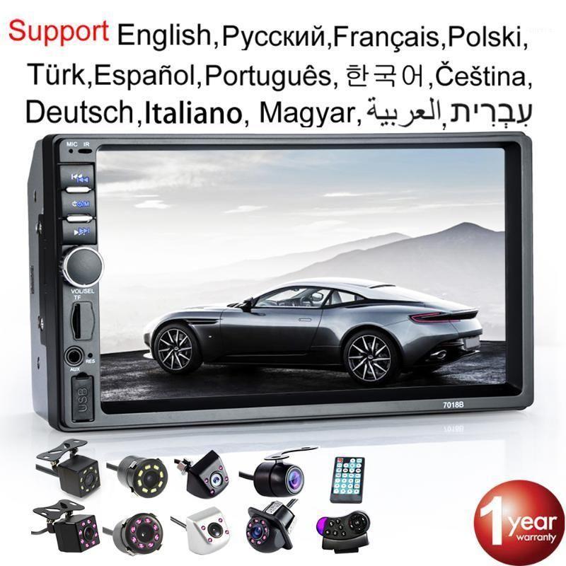 "Araba Radyo 2 Din HD 7 ""Autoradio Multimedya Oyuncu 2Din Dokunmatik Ekran Oto Ses Araba Stereo MP5 Bluetooth USB TF FM Camera1"