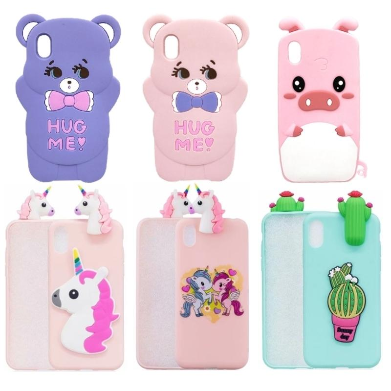 Unicorn Y5 2019 Soft Silicone Phone For Huawei Honor 8S Honor8S 8 S Case Back Cover 5.71'' Cartoon Coque