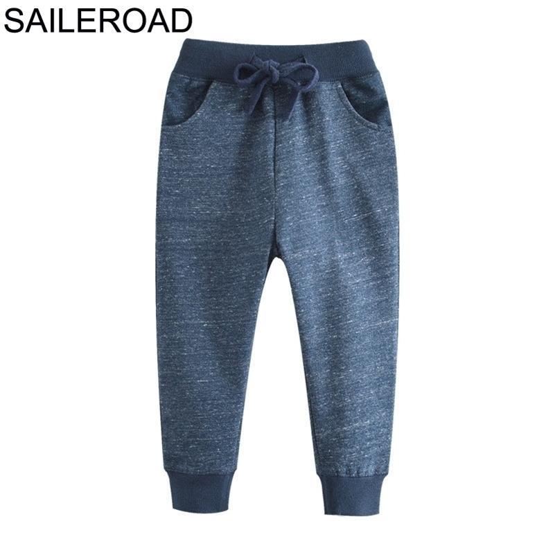 SailerOad Soild Boy Pantaloni lunghi per bambini SweaterPants Autunno Bambini Pantaloni sportivi Pantaloni di cotone Girls Tasche per bambini Vestiti LJ201017