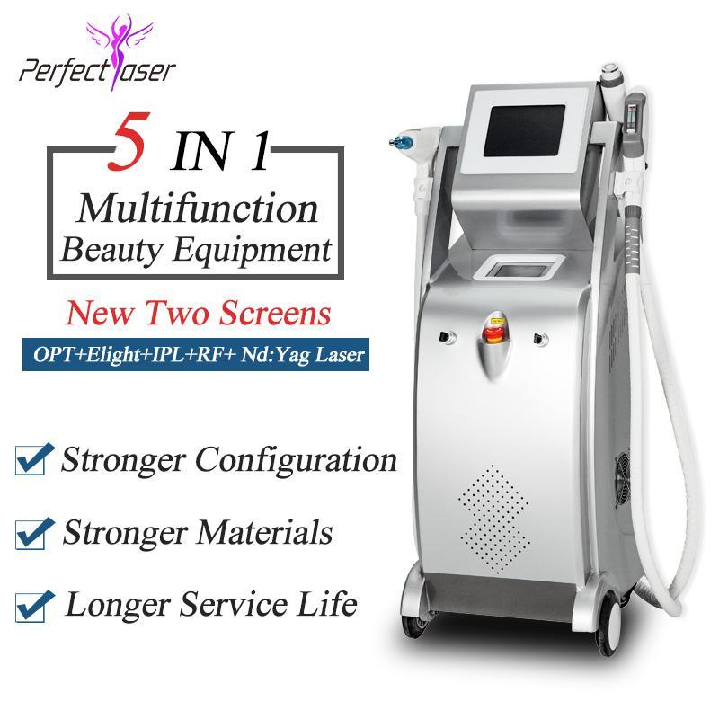 3000W Güç Opt Darbeli shr Teknolojisi 4 1 OPT + rf + Lazer + IPL SHR Cilt Gençleştirme Dövme Epilasyon Makinasında