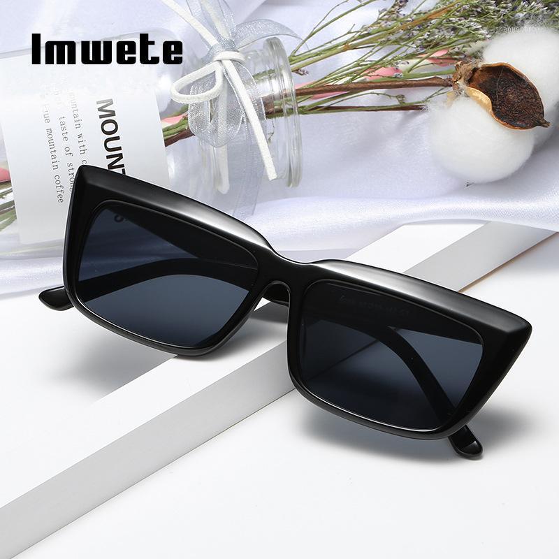 Imwete Square Sunglasses Femmes Hommes 2020 Classic Dégradé Sun Lunettes Sunes Shades Vintage Femme Tendance Grand Cadres Sunglass UV4001