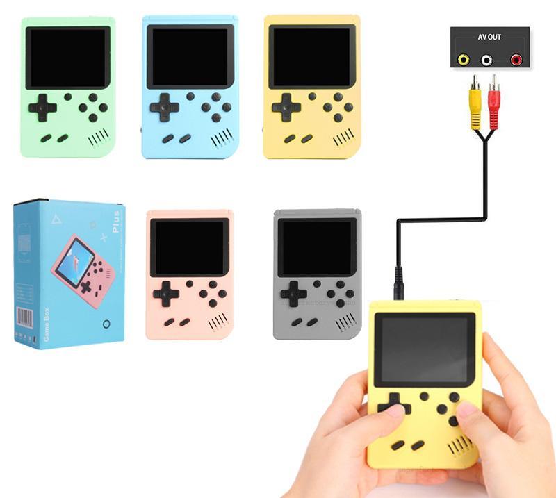 المحمولة الرجعية ألعاب الفيديو وحدة يمكن تخزين 500 مباريات 2.4 بوصة المحمولة لعبة لاعب مصغرة لعبة مربع زائد للأطفال هدية من sup PXP3 PVP