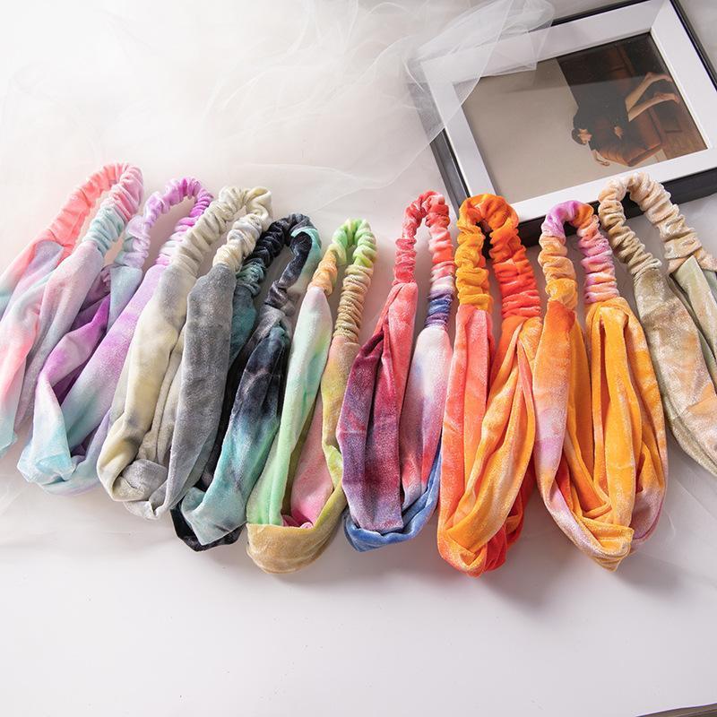 Frau Velvet Soft-Stirnband Frauen Haarband-Querknoten elastischer Haar-Bänder Mädchen-Haar-Zusatz-Haar-Seile 9 Farben HOT