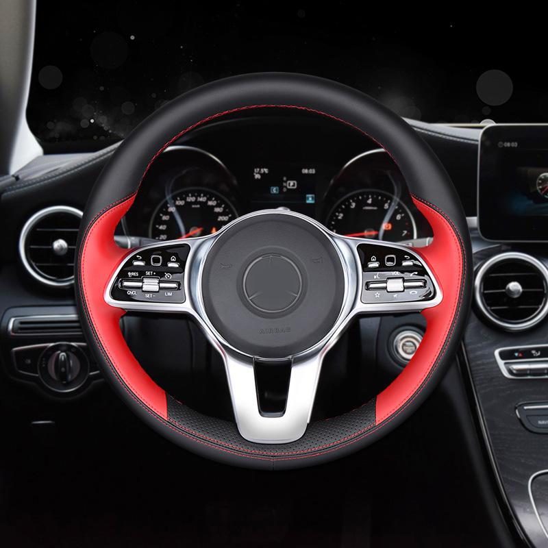 DIY кожаный руль ручной Швейный Wrap крышки приспособленное для Mercedes-Benz C260L C200L C180L E300L E200L 2016-2020