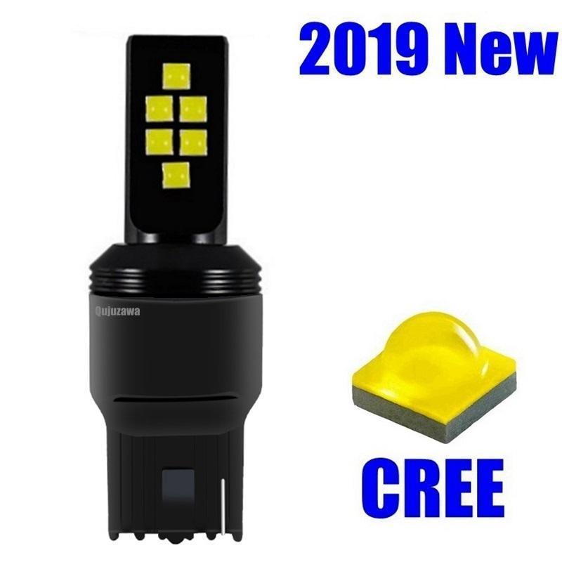 1 unids T20 7440 W21W WY21W 12 SMD CREE CREE CHIP LED Copia de seguridad de la lámpara inversa de la lámpara de giro de la bombilla de la cola automática Bombilla de freno D durante todo el día