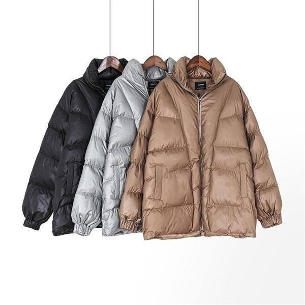Toppies Kış Boy Ceket Kadın Puffer Ceket Daha Kalın Sıcak Yastıklı Giysi Gevşek Outweary1103